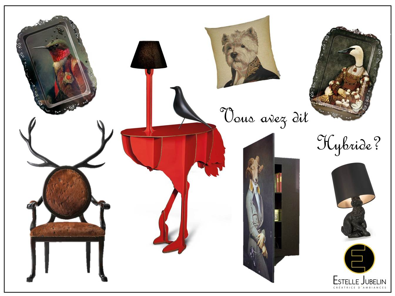 les animaux dans la d co estelle jubelinestelle jubelin. Black Bedroom Furniture Sets. Home Design Ideas