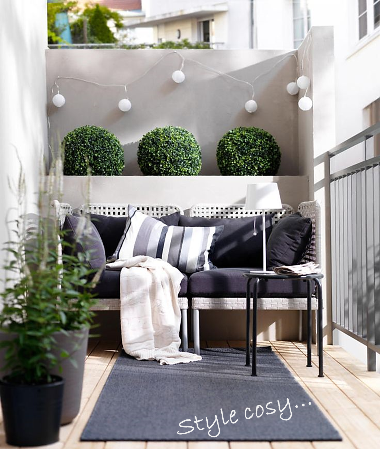 5 id es de d coration pour petit balcon estelle jubelinestelle jubelin. Black Bedroom Furniture Sets. Home Design Ideas