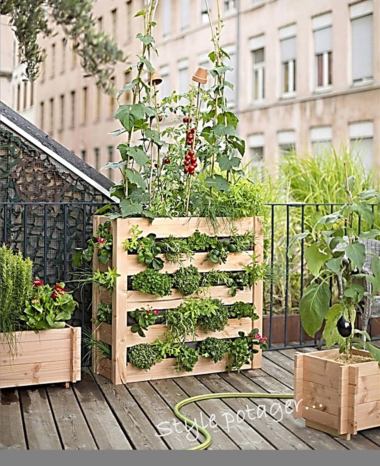Style potager decoration ext rieure2 estelle jubelin reims for Deco jardin potager