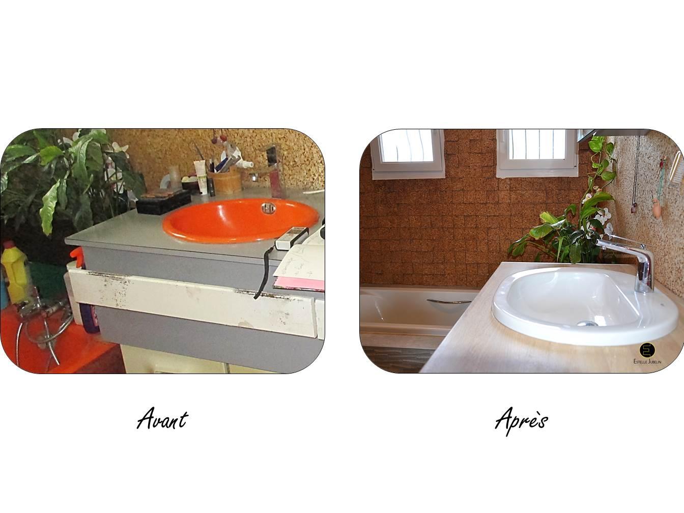 Eclairage Salle De Bain Lumiere Du Jour : ajout d'un plan de toilette en bois et de nouvelles vasques …