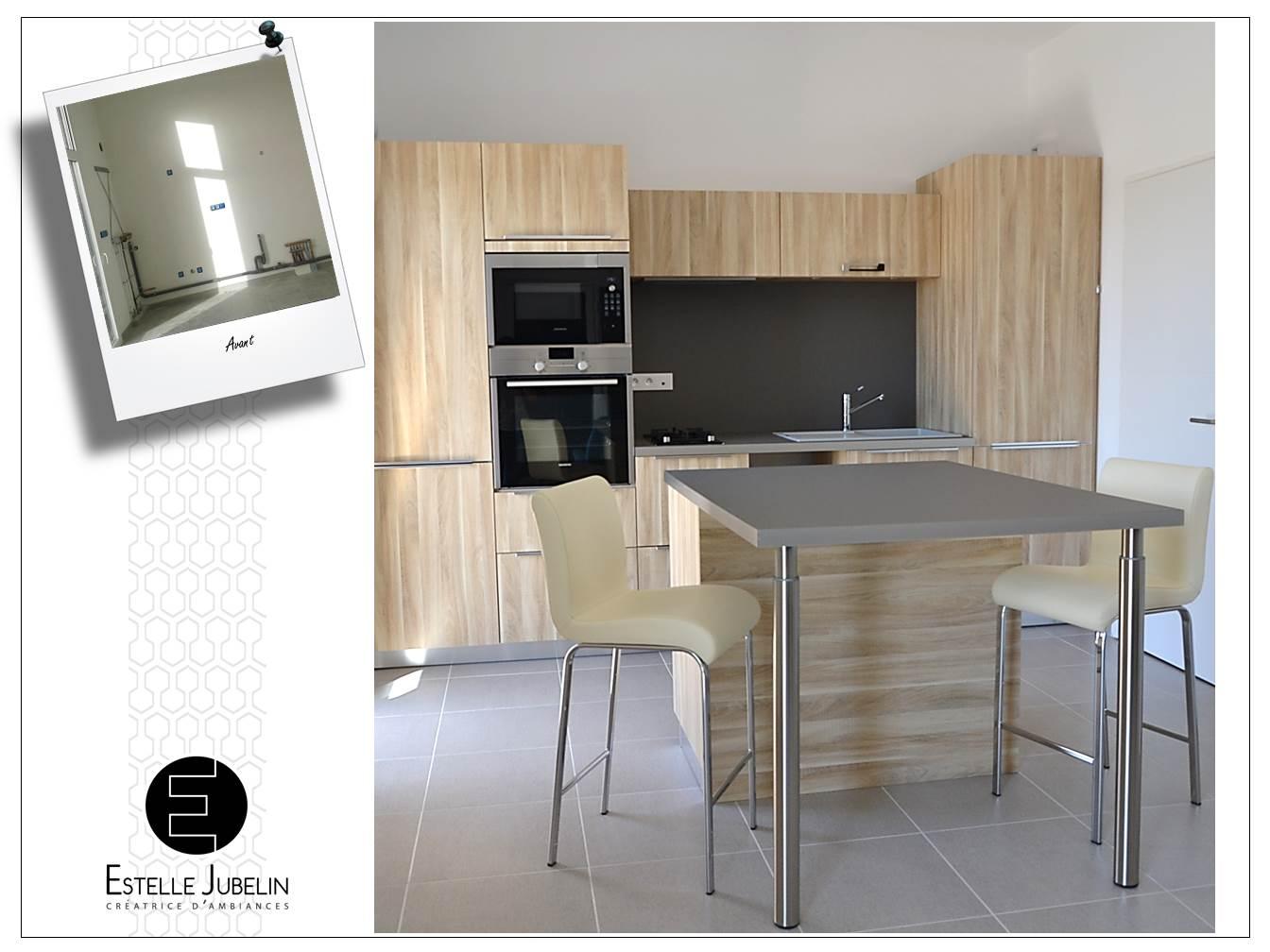 Conception d 39 une cuisine contemporaine ouverte sur le for Cuisine contemporaine ouverte sur salon