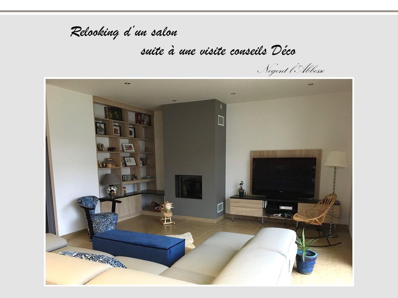 Relooking d 39 un salon visite conseils en d coration for Cours de decoration d interieur