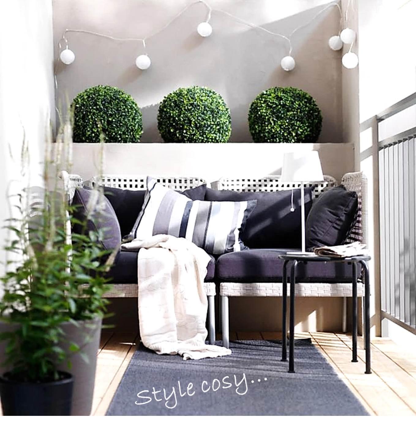 Idee Deco Guirlande Exterieur 5 idées de décoration pour petit balcon - estelle
